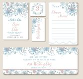 Set of wedding cards Stock Photography