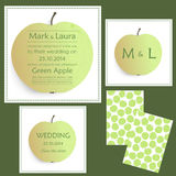 Set of wedding cards or invitations Royalty Free Stock Photos