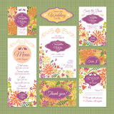Set of wedding cards Royalty Free Stock Image