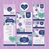 Set of wedding cards Stock Photos