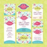 Set of wedding cards Stock Photo