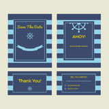 Set of wedding cards Royalty Free Stock Photo