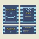 Set of wedding cards royalty free stock photo