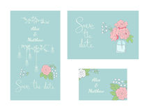 Set of wedding cards Royalty Free Stock Images