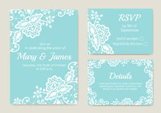 Set of wedding cards Royalty Free Stock Photography