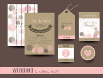 Set of wedding cards. Wedding invitations.vector Royalty Free Stock Photo