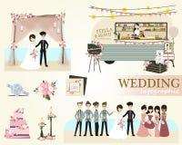 Set of wedding ceremony.Vector/Illustration Royalty Free Stock Image