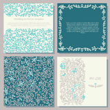 Set of wedding decorative elements Stock Photos