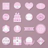 Set of wedding decorative stickers Royalty Free Stock Photo