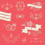 Set of wedding design elements Royalty Free Stock Photography