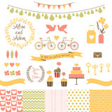 Set for wedding design. Love elements for your design Royalty Free Stock Photography