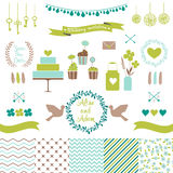 Set for wedding design. Love elements for your design Stock Photography