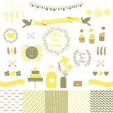 Set for wedding design. Love elements for your design Stock Photo