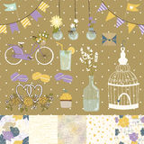 Set for wedding design. Save the date Royalty Free Stock Images