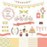 Set for wedding design. Save the date. vector illustration