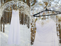Set wedding dress Stock Image