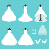 A set of wedding dresses. Stock Photography