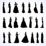 Set of wedding dresses Royalty Free Stock Photo