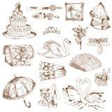 Set of Wedding Elements Royalty Free Stock Images
