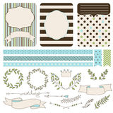 Set of wedding elements for design Royalty Free Stock Photo