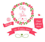 Set of Wedding Graphic Elements with Arrows, Royalty Free Stock Image