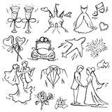 Set of wedding icon Royalty Free Stock Photo