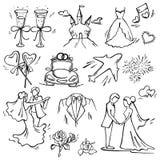 Set of wedding icon Royalty Free Stock Photo