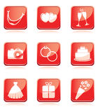 Set of wedding icons Stock Images