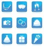 Set of wedding icons Royalty Free Stock Image