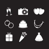Set of wedding icons Stock Photos