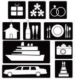 Set of wedding icons Royalty Free Stock Images