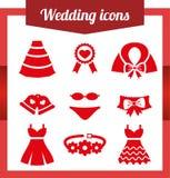 Set wedding icons. Stock Image