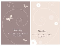 Set wedding invitation card 3. A set of two wedding invitation cards on pink color. Other wedding sets in my portfolio. EPS file available vector illustration