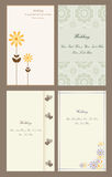 Set wedding invitation cards Royalty Free Stock Photography