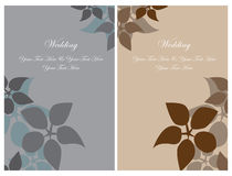 Set wedding invitation cards Stock Image
