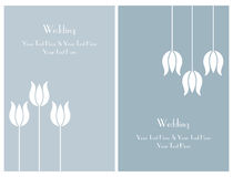 Set wedding invitation cards Royalty Free Stock Images