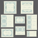 Set of wedding invitation cards Stock Photography