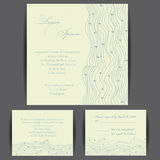 Set of wedding invitation cards Royalty Free Stock Image