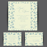 Set of wedding invitation cards Royalty Free Stock Photos