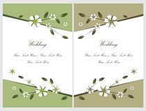 Set wedding invitation cards 5 Stock Photo