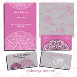 Set of wedding invitation, cards with angels Stock Photography