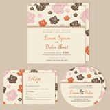 Set of wedding invitation cards or announcements Royalty Free Stock Photography