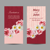 Set of wedding invitation cards design. Stock Photography
