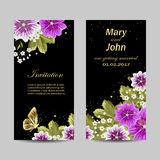 Set of wedding invitation cards design. Stock Image