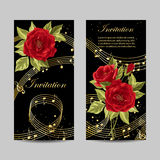 Set of wedding invitation cards design. Stock Image