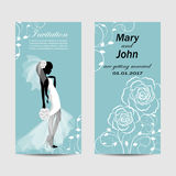 Set of wedding invitation cards design. Stock Photos