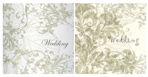 Set of wedding invitation cards for design Royalty Free Stock Photo