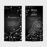 Set of wedding invitation cards design. Stock Photo