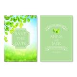 Set of wedding invitation cards Royalty Free Stock Photos