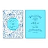 Set of wedding invitation cards Stock Photo